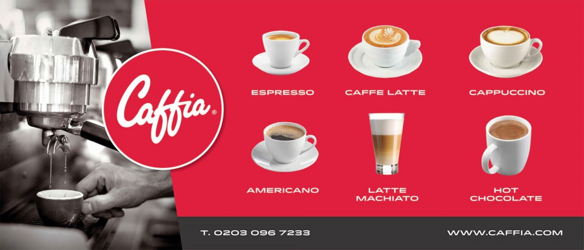 Caffia Coffee Menu Board For Retail Shop