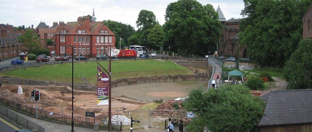 Roman Remains In Chester UK