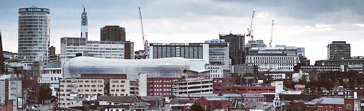 View of Bullring in Birmingham