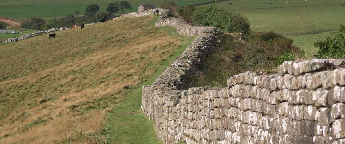 Hadrians Wall Near Hexham Northumberland UK