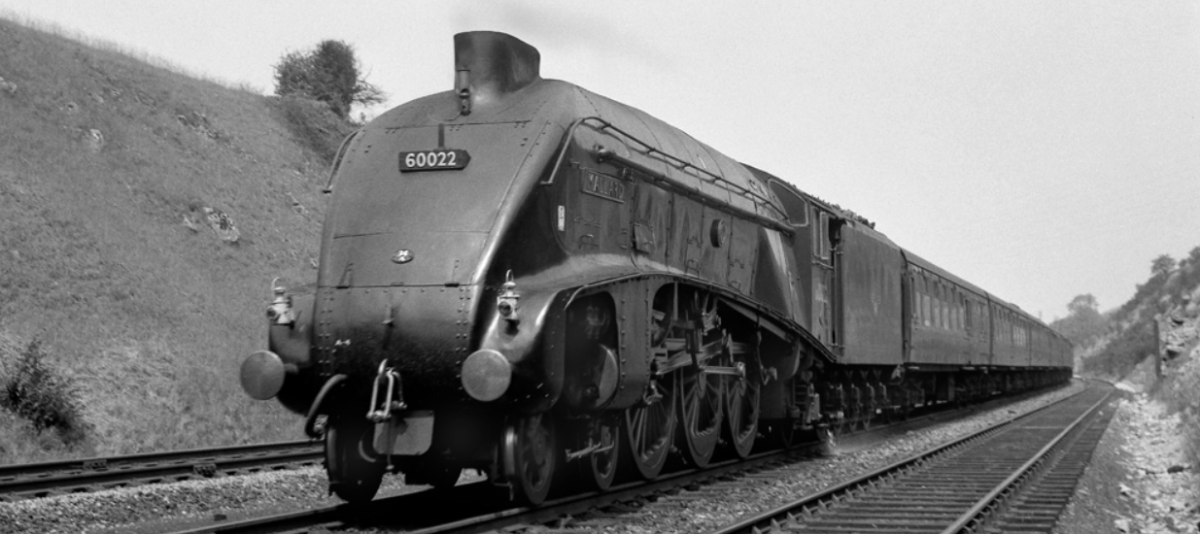 Mallard Locomotive Near Grantham